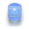 Glass Crowbead 12mm/5mm Hole Light Sapphire